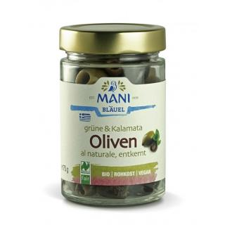 Oliven grüne + Kalamata  ohne Stein