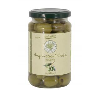 Grüne Oliven natur ohne  Stein