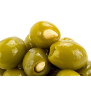 grüne Oliven mit Mandel-Füllung