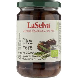 Schwarze Oliven (in Salzlake)