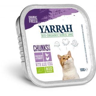 Katzenfutter: Huhn + Truthahn Bröck.in Alu